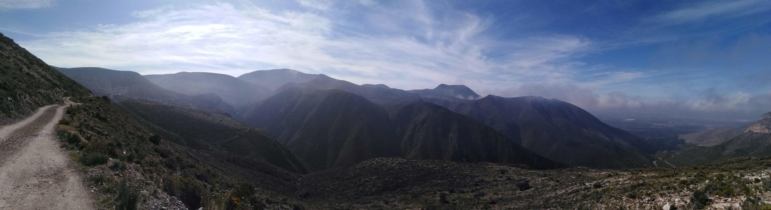 Rodando entre minas cerros y nubes